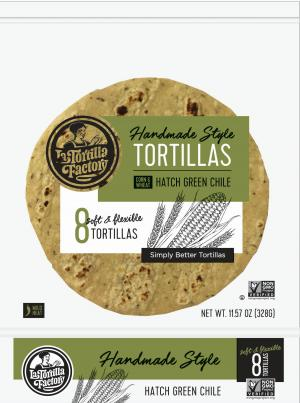 Hand Made Style Tortillas, Hatch Green Chile, White Corn & Wheat