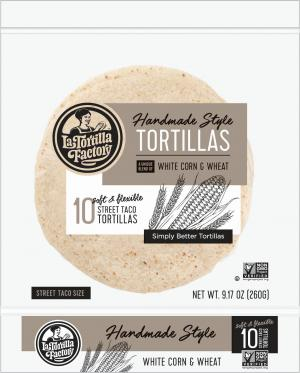 Hand Made Style Tortillas, White Corn & Wheat, Street Taco Size